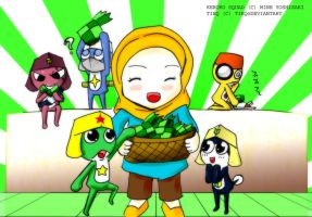 RQ: Keroro Squad and Tieq by Prafa-AR