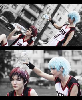 Kagami-kun, do you want water? by skyrap