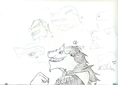 DnD Dragonborn Sketch by Frolet