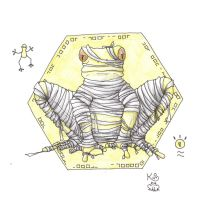 Mummy Frog by Scellanis
