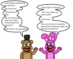 Bonnie X Freddy NOPE by Kriztian-Draws