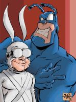 The Tick and Arthur sketch by RougeDK