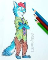 Russell as Nick Wilde by skyfox911