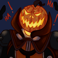 Pumpkin Man by KatsLoveSalmon