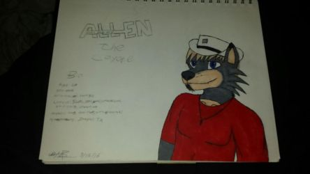 Allen the coyote (colored) by dustydan95