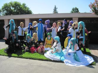 Vocaloid gathering by TheSapphireDragon1