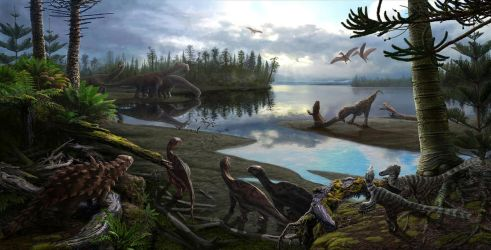 Late Cretaceous dinosaurs of Southern France by NGZver