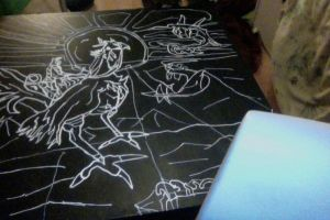 Video game table by LOrdalie