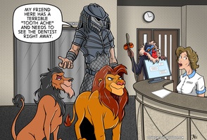 Cecil the Lion Editorial Comic by TR1Byron
