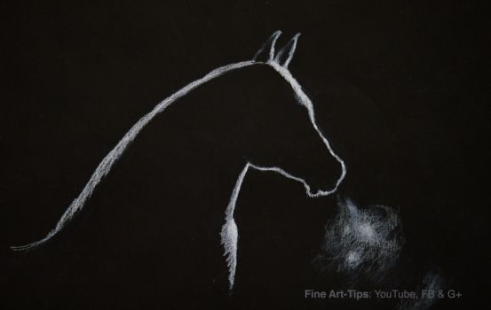 How to Draw a Horse Silhouette With Backlighting by ArtistLeonardo