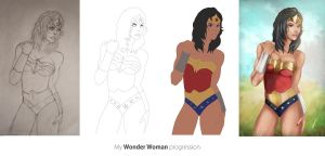 Wonder woman progression by iEvgeni