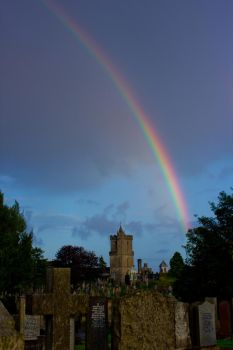 Old Town Cemetery Rainbow by BusterBrownBB