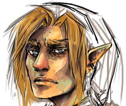 Zelda - MANLY LINK by roolph