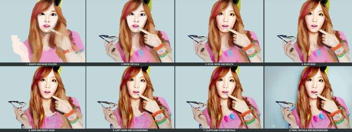 Painting Progress - Tae Yeon - SNSD by U8i