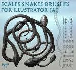 Scales snakes brushes for Illustrator (ai) by jojo-ojoj
