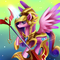 Cadance in armor by Incinerater