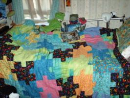 Puzzle quilt by cindra24