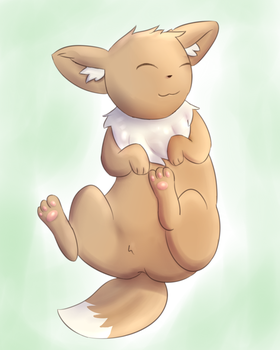 Random happy Eevee by PonyLumen