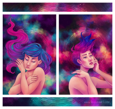 Inner and Outer Space by TealSeaArt