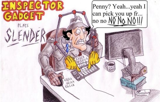 Inspector Gadget Plays Slender...in color!!! by Prezdawg