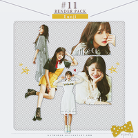 RENDER PACK #11 - Jeong EunJi 5P by kathy030
