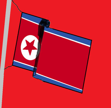Waving Flag - North Korea by tailsthebest1