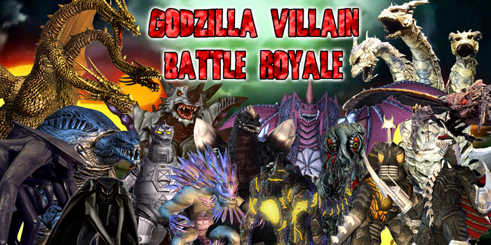 Godzilla Villain Battle Royale by JapaneseGodzilla1954
