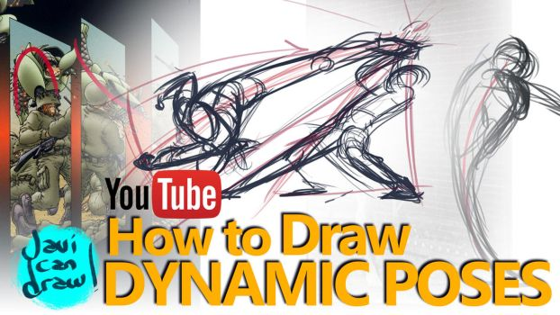 HOW TO DRAW ACTION POSES - A YouTube Tutorial by javicandraw