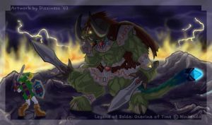 Facing the Wrath of a GOD by dizziness
