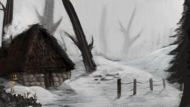 Cottage in the woods by gravedivision