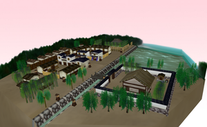 [Stage Flood] Traditional old time Japanese town by amiamy111