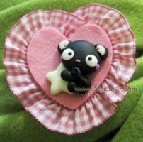 black cat brooch by AlchemianShop