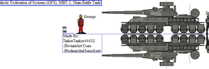 Galactic Federation of Systems (GFS), MBT-1, Tank by TinkerTanker44432
