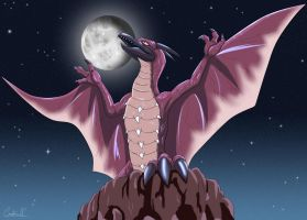 RODAN AT NIGHT by arkan54