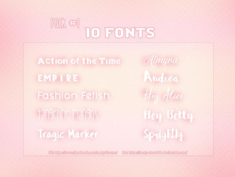 Pack fonts by Lady Midnight by Andy-chan801