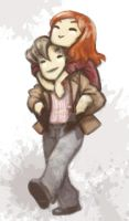 Amy Pond and 11 by JoannaJohnen