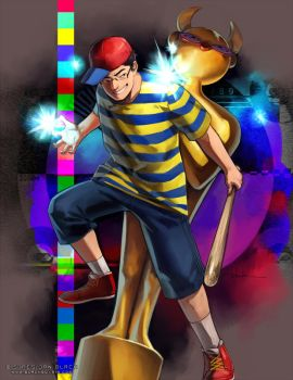LSD + EARTHBOUND (MOTHER2) by EvilApple513