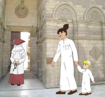 Going to Mosque by spring-sky