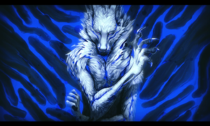 Blue Fox|Smudge Tag by KokuiMato