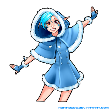 Silly Quickie - Happy Snow Elf by RoninDude