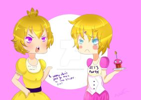 Chica's Thoughts On Toy Chica by B-3-A-R-0-X