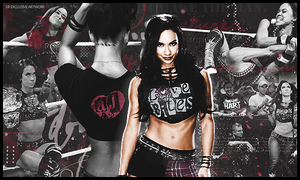 AJ Lee Signature by SoulRiderGFX