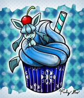 Cupcake Glaceon by drinkyourvegetable
