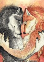 Lover's Embrace by Goldenwolf