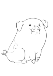 Daily sketch - friday Waddles by PowerOfSin