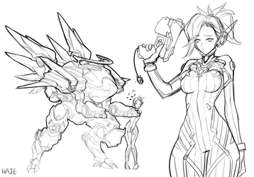 D.va mercy Rough sketch by Haje714