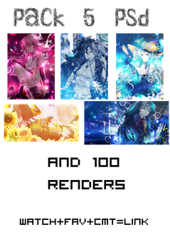 Pack PSD and renders by Arcana-chan-HTH