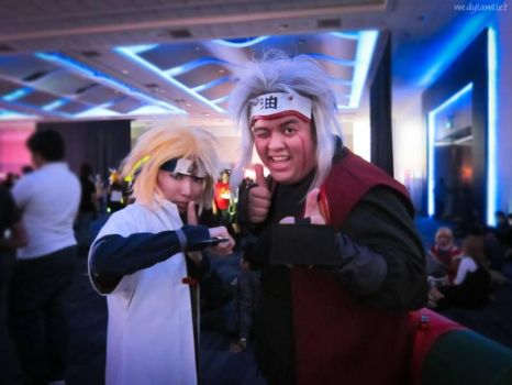 Teacher and Student: Jiraiya and Minato by hainrihi
