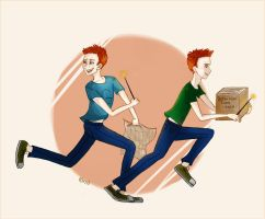 Fred And George by anaapop