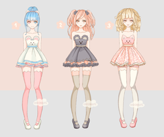/SALE/ Adopt Girls [Set price!] [CLOSED] by KristinaHlopec